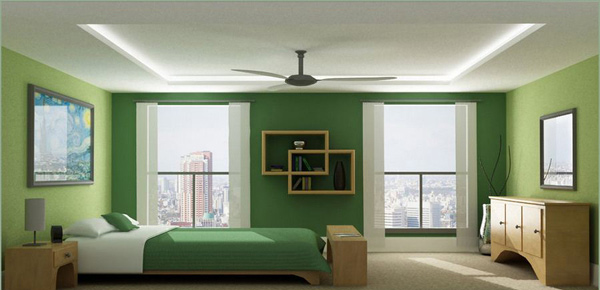 Green Bed Room