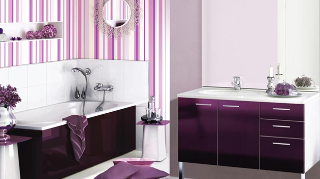 lovely purple green bathroom ideas | 15 Majestically Pleasing Purple and Lavender Bathroom ...