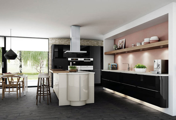 15 Earth-Toned High Gloss Kitchen Designs   Home Design Lover