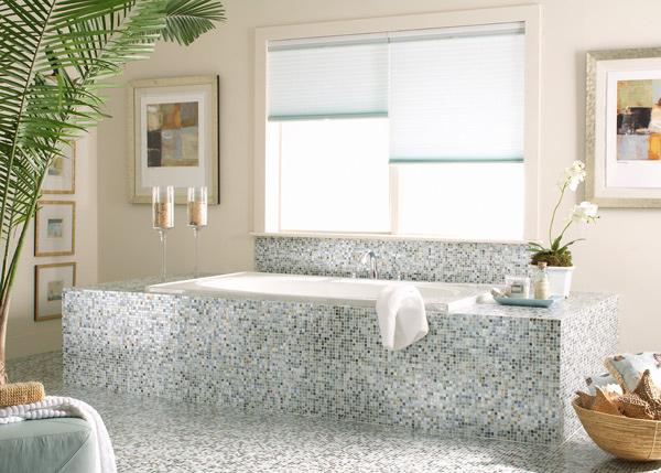 Gray Mosaic Bath