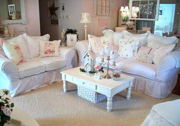 White furniture coverings