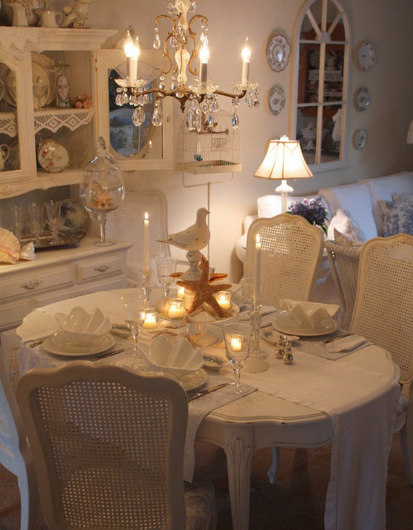 romantic dining room charming shabby chic kitchen