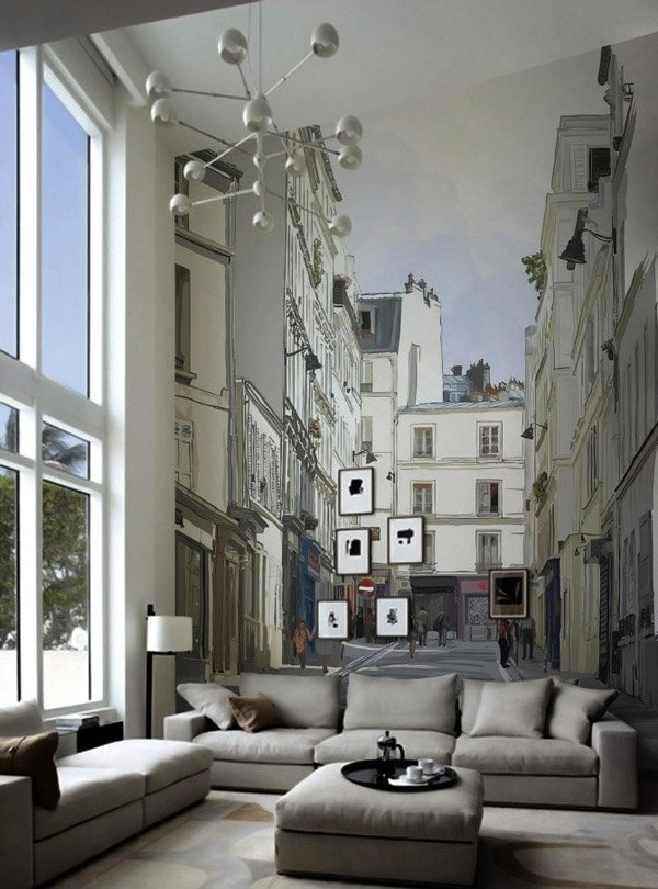 Living Room Mural Design Perspective Home Lover On Sich