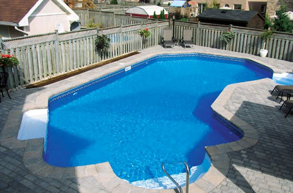 L-shaped pool designs