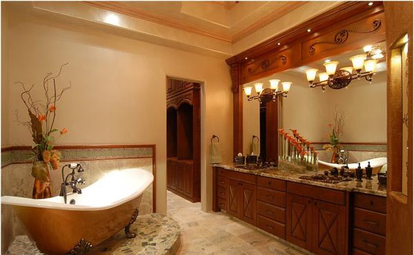 Master Bath vintage cabinet