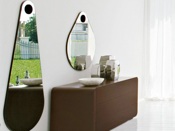 Green Modern Mirror Drop