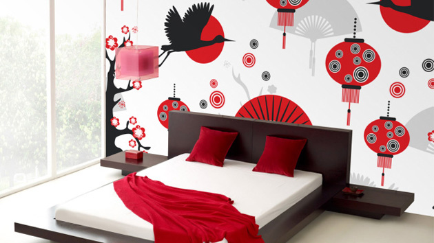 15 Wonderfully Designed Mural Wallpapers in the Bedroom   Home Design Lover. 15 Wonderfully Designed Mural Wallpapers in the Bedroom   Home