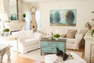 white shabby chic living