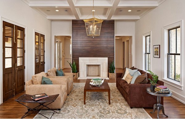 earth toned living rooms