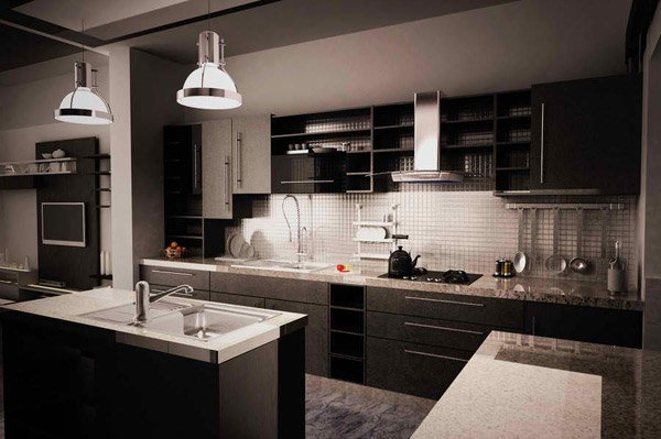 black gloss kitchen