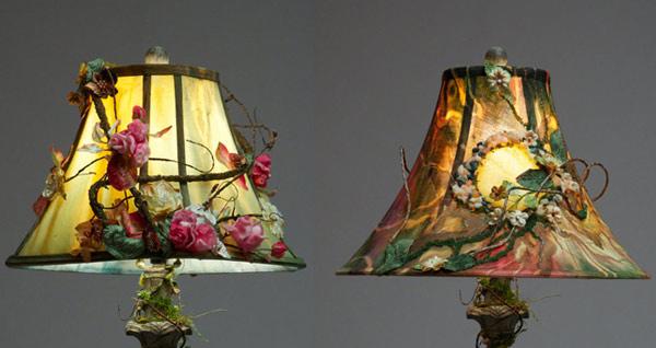 Painted Lamp Shades: Hand-painted Lamp Shade,Lighting