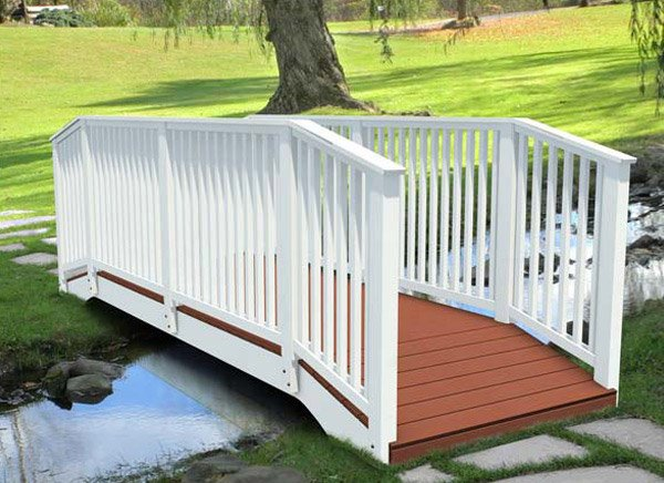 Straight Spindle Rail Pedestrian Bridges