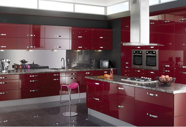 high gloss kitchen designs