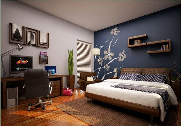 Excellent 15 Bedroom Designs In Blue Hues Home Design Lover Largest Home Design Picture Inspirations Pitcheantrous