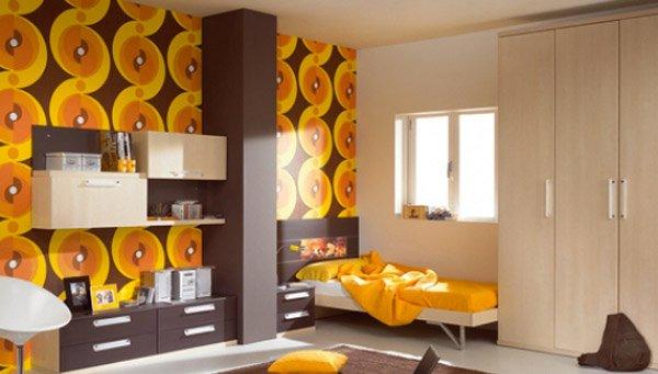 retro wallpaper interior design 5 - Funky Bedroom Design