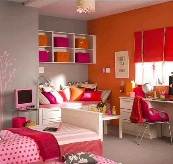 Vibrant Girl s Bedroom. 15 Funky Retro Bedroom Designs   Home Design Lover