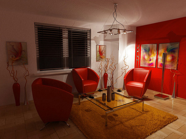 red comfy chairs