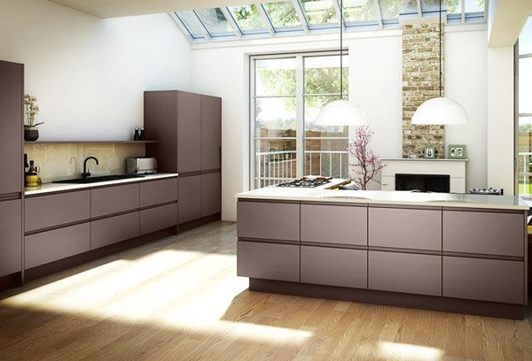 17 Wooden Matte Finished Kitchen Designs | Home Design Lover