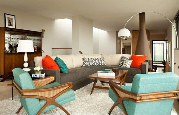 retro living rooms - Retro Living Room Ideas