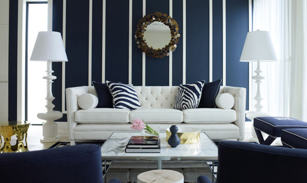Royal Blue Couch Living Room. White Sectional View Full Size
