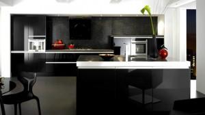 black gray gloss kitchen