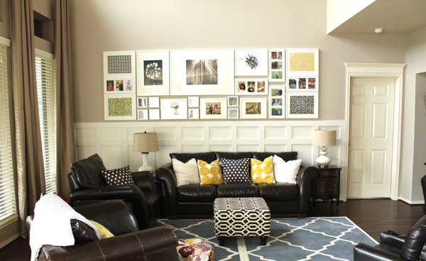 Living Room Wall. Decor Chic