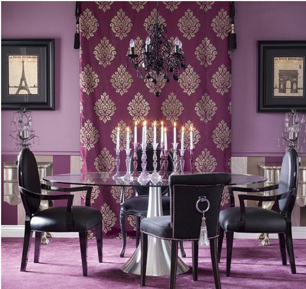 Purple Dining Room