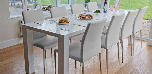 white gloss extending dining table email save photo minimalist design - White Gloss Kitchen Table