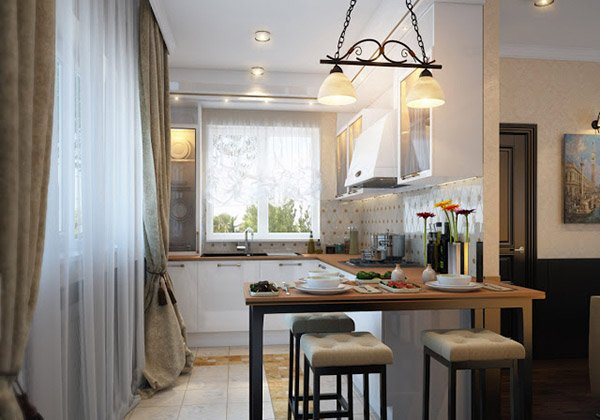Kitchen Curtains bistro style kitchen curtains : 15 Lovely Kitchen Curtain Ideas | Home Design Lover