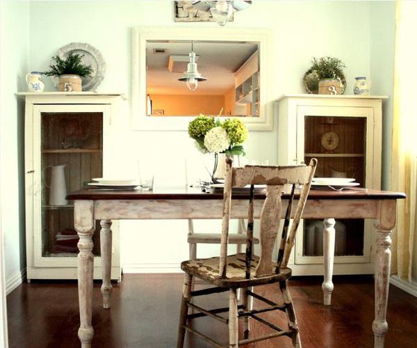 White & Green Cottage Kitchen