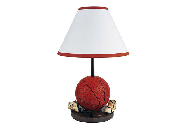 Painted Basketball Table Lamp
