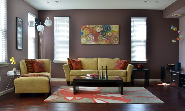 striped walls - Interior Paint Design Ideas For Living Rooms