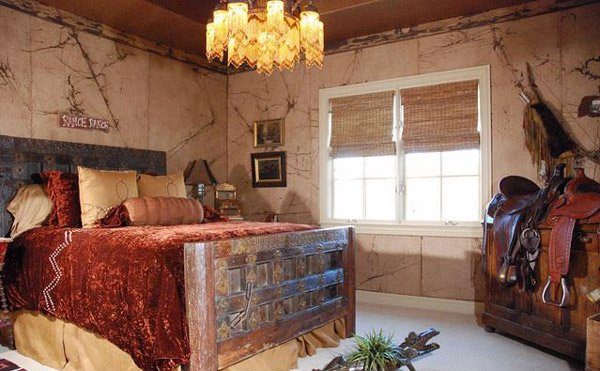 cowboy themed guest bedroom rsvp design services - Rustic Country Bedroom Decorating Ideas