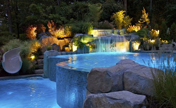 pool waterfalls ideas