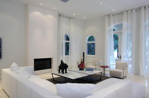 luxury design. 15 Lovely White Themed Living Rooms   Home Design Lover