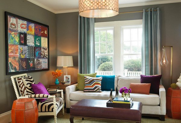 gray room accent