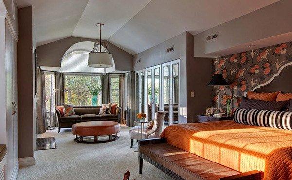 orange and grey - Bedroom Color Schemes