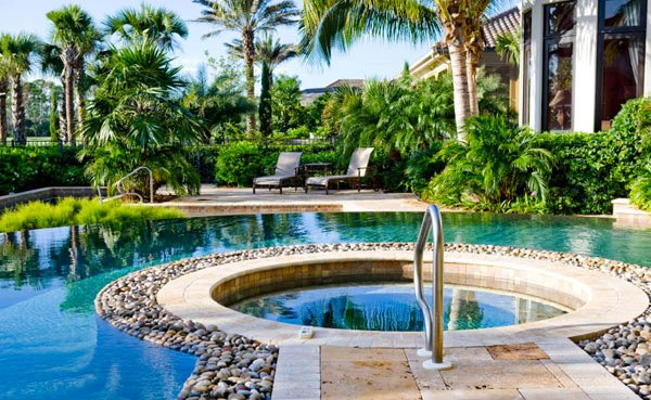 green outdoor plants - Swimming Pool Landscape Design