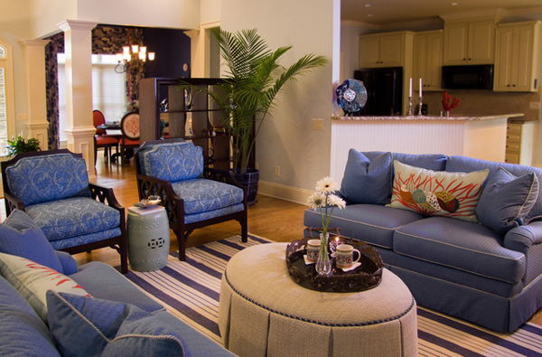 15 Lovely Living Room Designs with Blue AccentsHome Design Lover