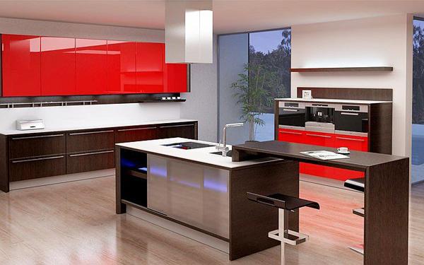 Elevated Nook Island Kitchen Design Images