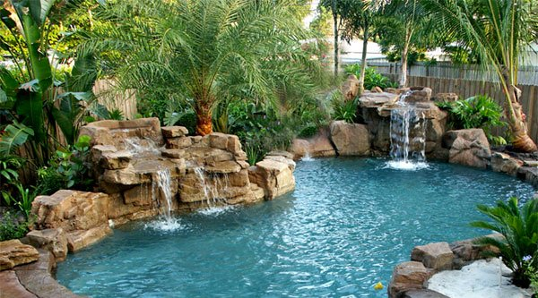 swimming pool waterfalls - Waterfall Design Ideas