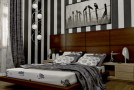 bedroom striped wall