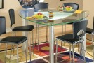 couner height dining