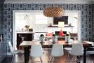 geometric dining room
