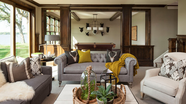 15 Fascinating Living Rooms With Grey Accent   Home Design Lover