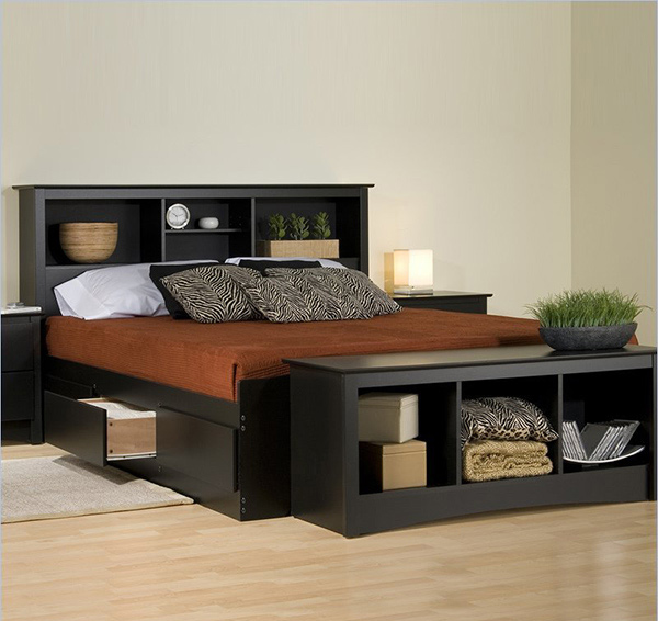 double platform bed with drawers 1