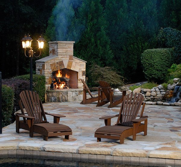 outdoor stone fireplaces - 15 Outdoor Stone Fireplaces To Love Home Design Lover