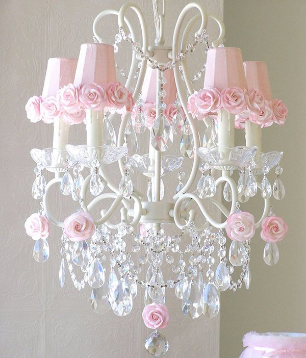15 Alluring Pink Chandeliers for a Girls Bedroom – Rose Chandelier