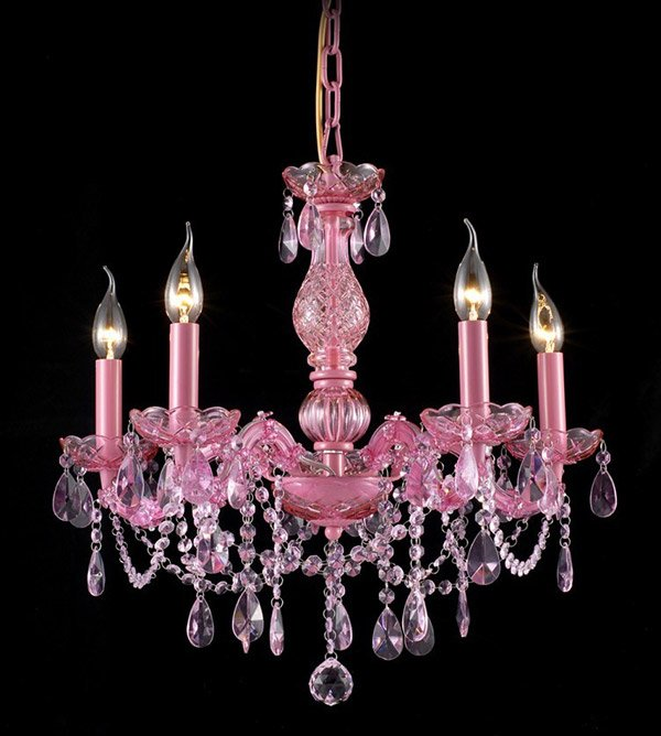 Maria Theresa Contemporary Pink Chandelier