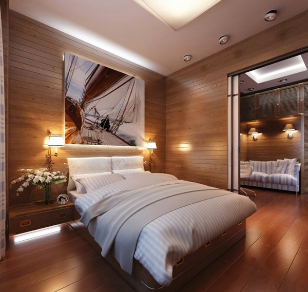 Apartment in Yacht Style Panel Bed
